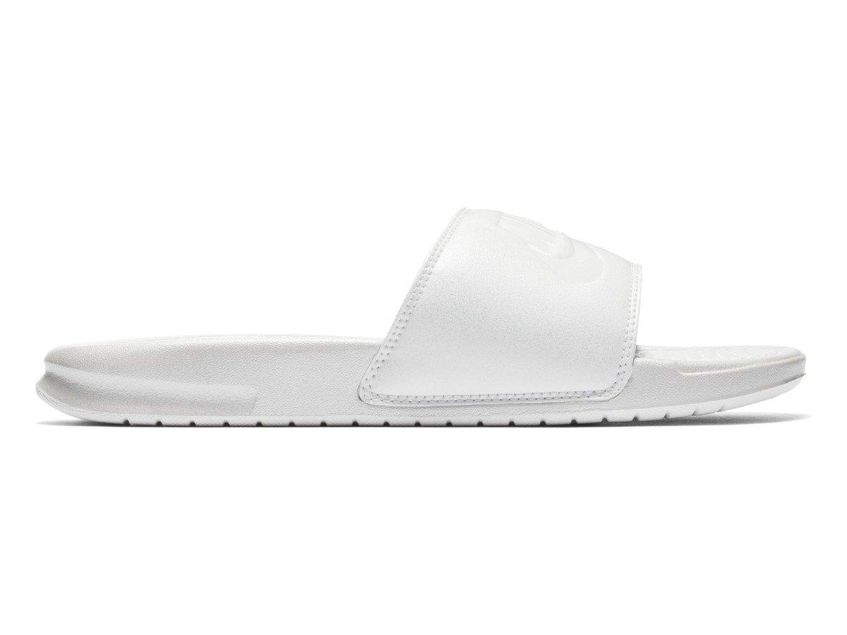 quality design 55150 00215 Klapki damskie NIKE WMNS BENASSI JDI METALLIC QS Biały | Kobiety \ Buty \  Sandały i Japonki \ Klapki