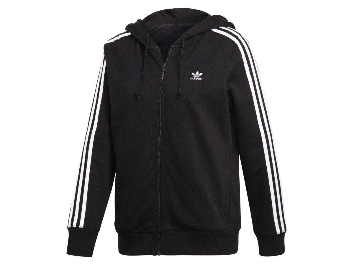 Bluza damska Adidas Originals 3 Stripes Zip Hoodie black