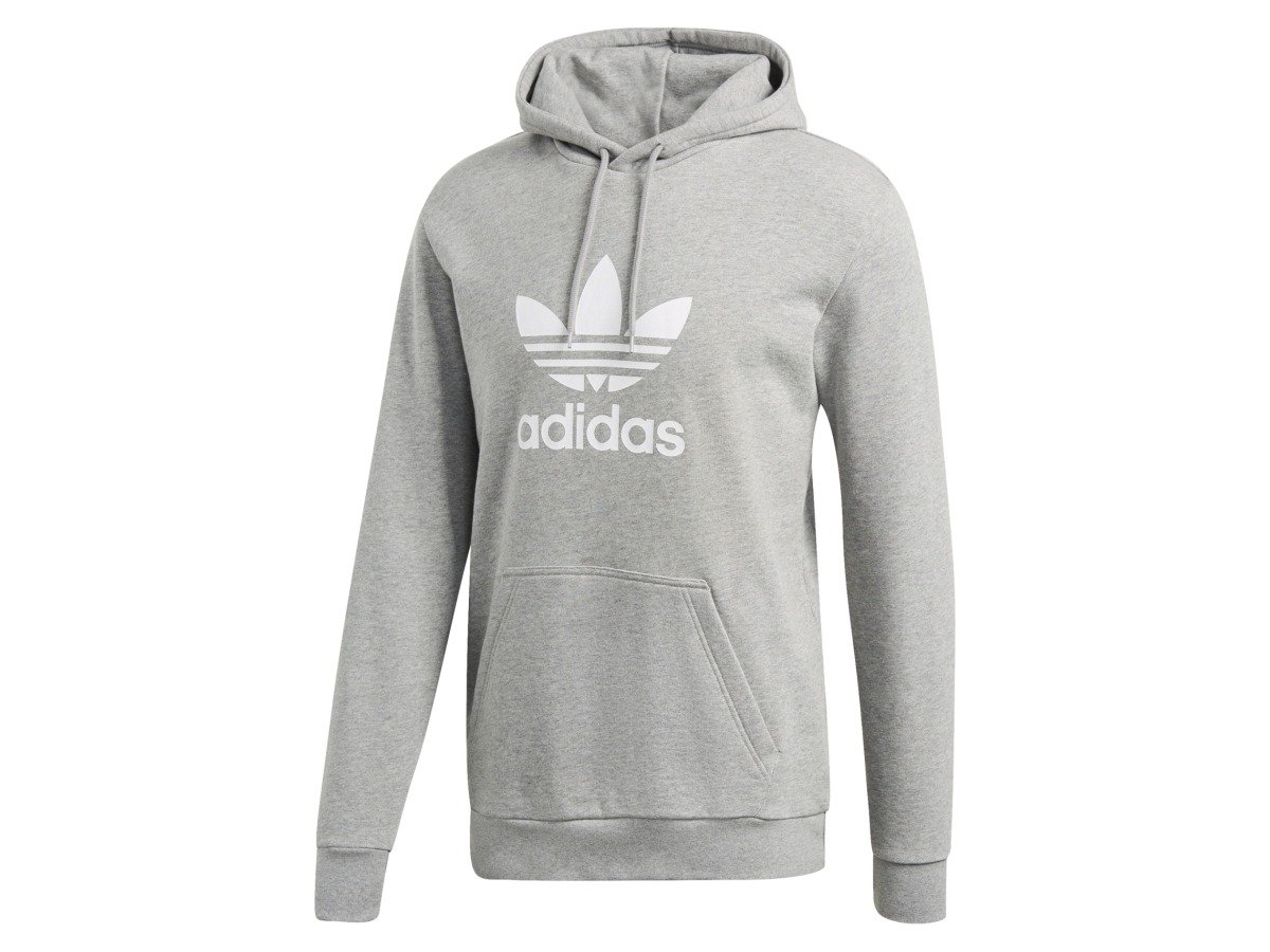 bluza adidas szara damska trefoil hoodie