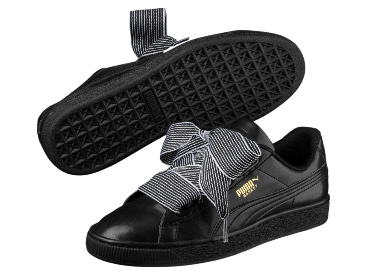 puma heart basket czarne